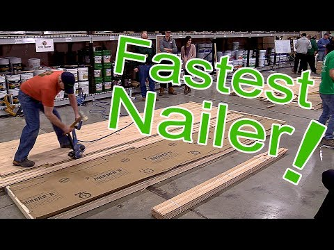 Robert O'Connell Wins Fastest Nailer at City Floor Supply | Hardwood Contractor Competition