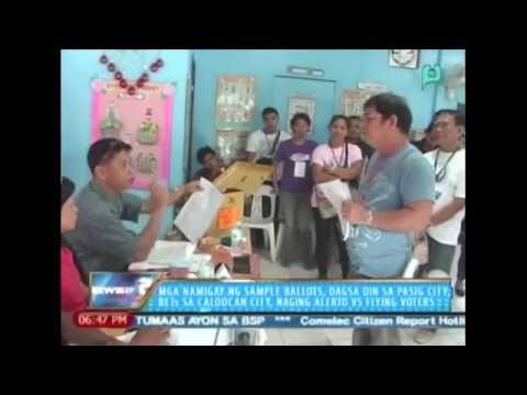 Mga namigay ng sample ballots, dagsa rin sa Pasig City, BEIs sa Caloocan City...10/28/13