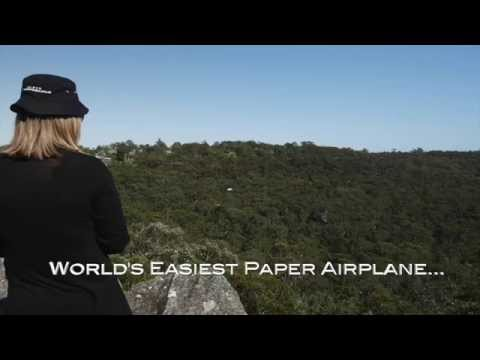 World's Easiest Paper Airplane flies high and far