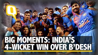 Big Moments: India's Dramatic Four-Wicket Win Over Bangladesh