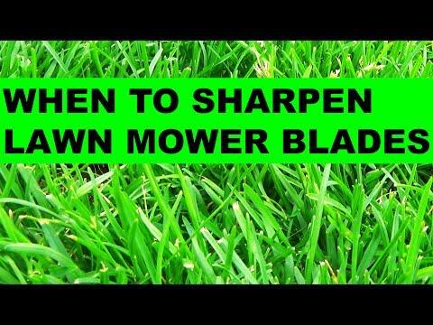 Quick Tip - When to sharpen lawn mower blades