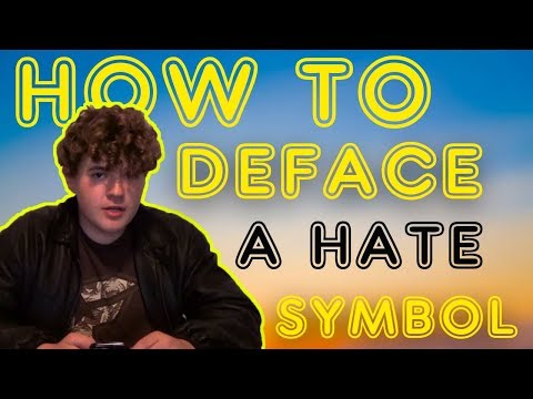 HOW TO PROPERLY deface a SWASTIKA