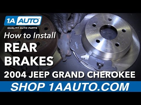 How to Replace Rear Brakes 99-04 Jeep Grand Cherokee