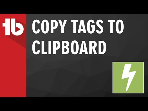How-To Copy Video Tags to Clipboard in YouTube [TubeBuddy]