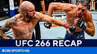 Alexander Volkanovski Defeats Brian Ortega in THRILLING Fight | FULL UFC 266 Recap | CBS Sports HQ