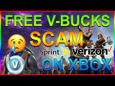 SPRINT OR VERIZON? | FREE V-Bucks SCAM on Fortnite!