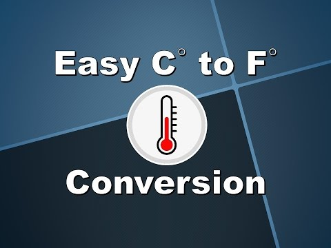 Easy Celsius to Fahrenheit Conversation - No Calculator Required