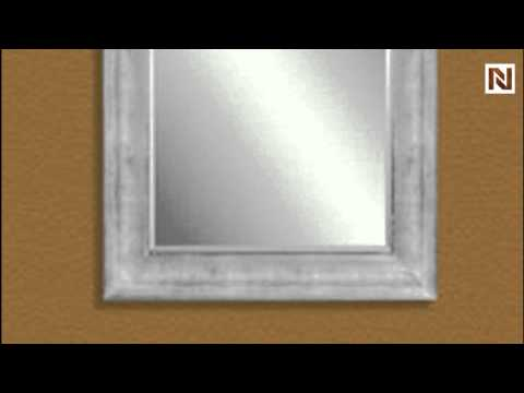 Silver Leaf Finish - Rectangle Mirrors by Bassett Mirror-m3193b