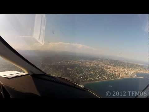 [HD] Pilot's eye view - Eclipse 500 landing in Cannes LFMD