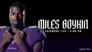 Facebook Live With Miles Boykin | Baltimore Ravens