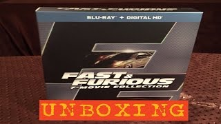 Fast & Furious: 7 Movie Collection-Blu Ray Unboxing