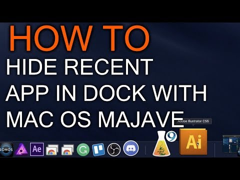 How to Hide Recent App in Dock Mac OS Mojave