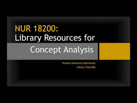NUR 18200 Library Resources for Concept Analysis