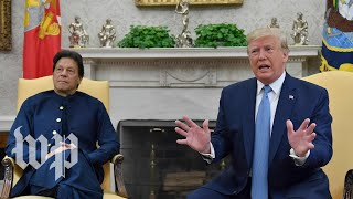 Download Watch: Trump speaks to reporters during meeting with Pakistan's leader Imran Khan Video