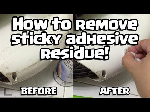 How to remove sticky adhesive residue