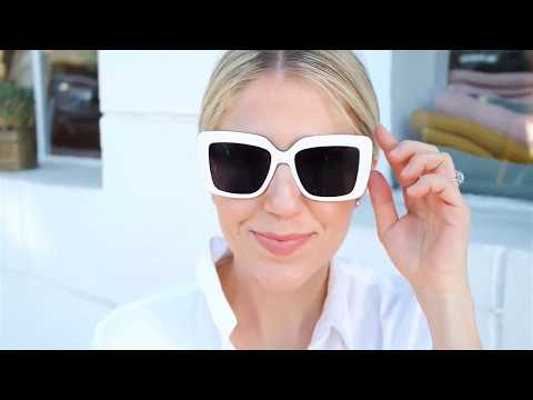 Spring Fashion with Lindsay Albanese - Bright White Glasses