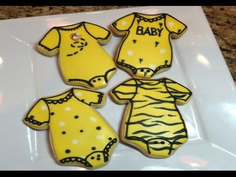 Baby Shower Baby Onesie Cookies (How To)
