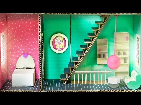 How to Make the Bedroom & Living Room In the Cardboard House - Part 3/6  | DIY Houses