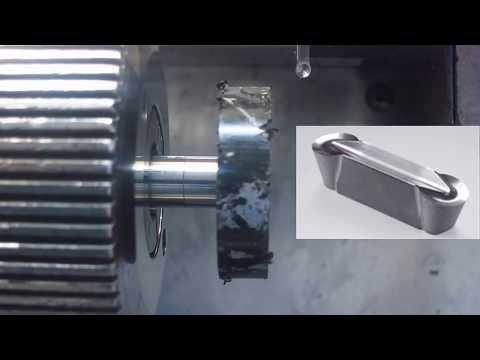 Machining plastic pulley with homemade HSS button tool