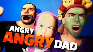 DAD RAGES AT HIS FAMILY - Angry Angry Dad Gameplay - Game Jam Let