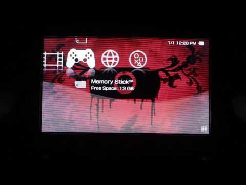 Modded 128gb RED PSP 3001 Custom Firmware 50+ Retro Game Emulators