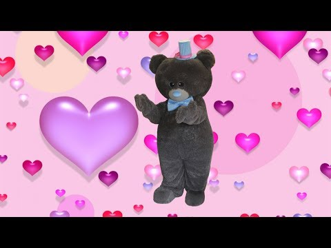 Putting on the Teddy Bear mascot costume that I made and the Bear dance)
