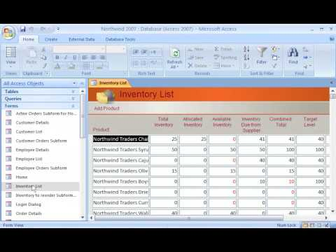 Access 2007 Demo: Select the right form view