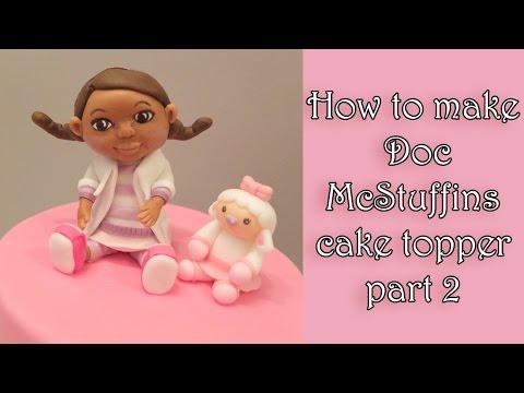How to make a fondant Doc McStuffins part 2/ Jak zrobić dziewczynkę Dosię cz.2