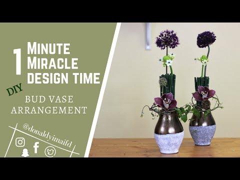 Table arrangment | 1 Minute Miracle Design Time | DIY Bud Vase Arrangement | Tips & Tricks