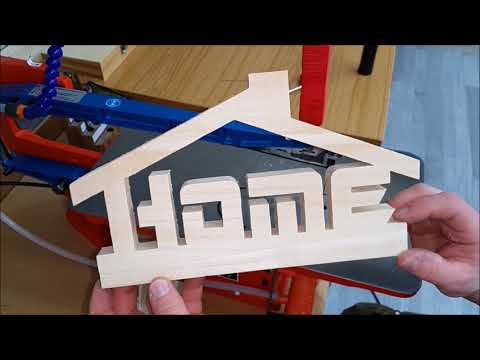 Making a Home Word Art Decor/ Easy scroll saw pattern for beginners