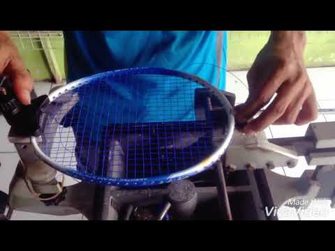 Badminton Racket Stringing (Indonesia Style)