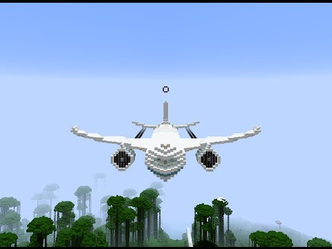 Minecraft- luxury private big vip jet passenger airplane ultimate transport tutorial how to build