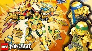 Lego Ninjago Season 9 Golden Dragon Mech Set With Gold Ninjas Crazy Fake