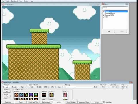 Super Mario Bros. X (SMBX) tutorial - How to make a Blooper fly in the air