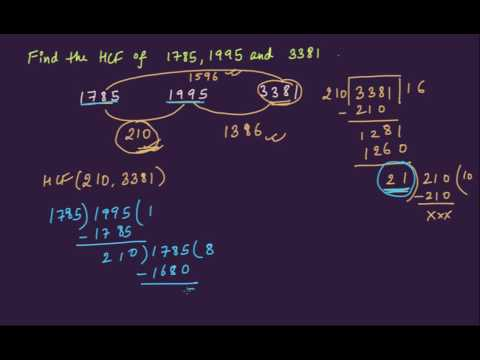 Division method to find HCF-example 2 (Hindi) | HCF and LCM | Edugrab