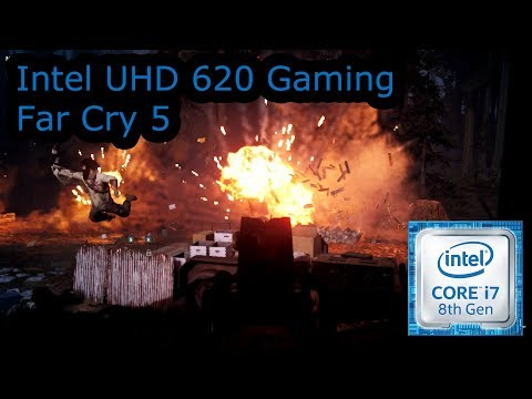 Intel UHD 620 Gaming - Far Cry 5 - i5-8250U, i5-8350U, i7-8650U, i7-8650U