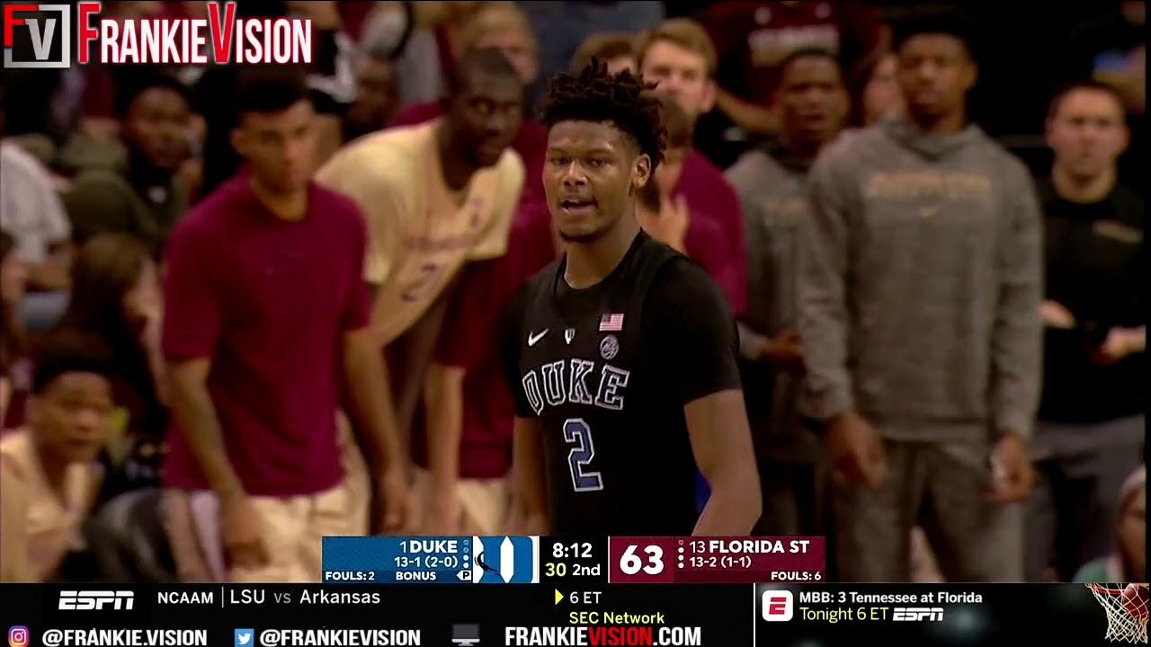 Cam Reddish Duke vs Florida State - Highlights | 1.12.19 | 23 Pts, Game-Winner!