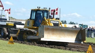 Komatsu D65PX Dozer Pulling The Sledge at Pulling Event in Hjørring | Tractor Pulling Denmark