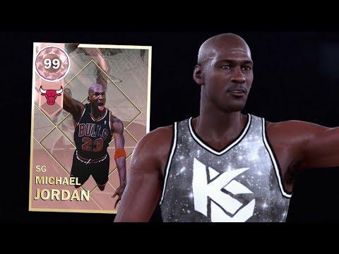 PINK DIAMOND MICHAEL JORDAN GAMEPLAY!! BEST CARD IN THE GAME!! (NBA 2K18 MYTEAM)