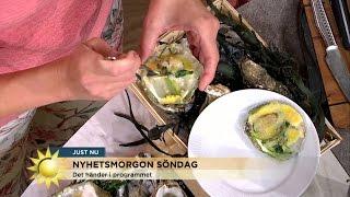 Ostronskola - så öppnar och äter du ostron  - Nyhetsmorgon (TV4)