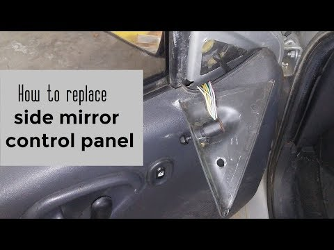 How to replace side view mirror control panel cover DIY video