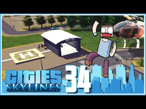 Cities Skylines - Ep.34 : Helicopter Mod & Wayne Enterprises!