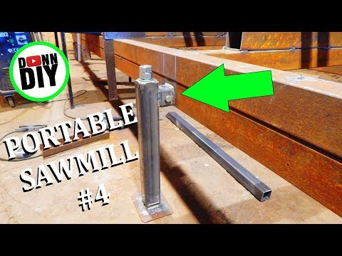 Homemade Portable Band Sawmill Build #4 - Jack Stands, Proof Of Concept
