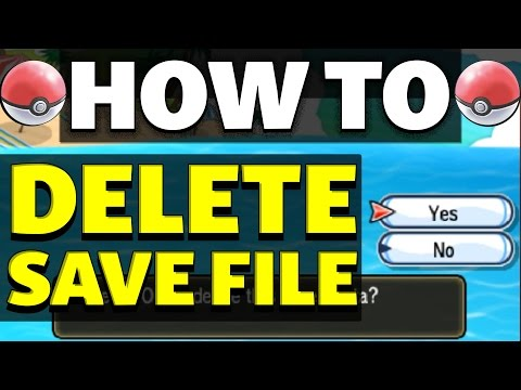 HOW TO DELETE SAVE in Pokemon Sun and Moon