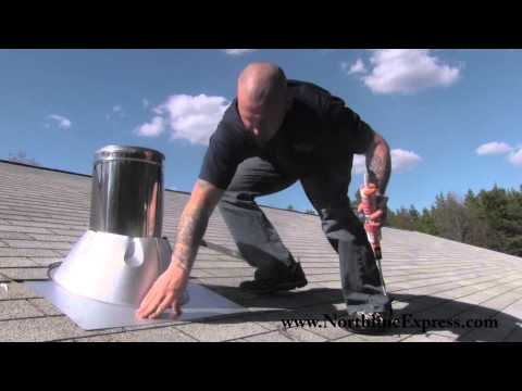Duravent Chimney Pipe - How to install a Duravent Chimney Roof Flashing