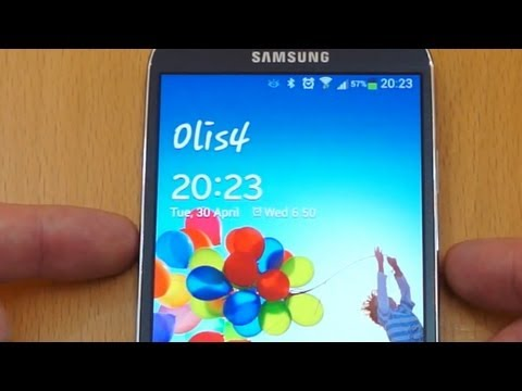 Samsung Galaxy S4 - Personalise your lock screen message