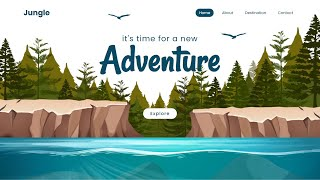 Parallax Scrolling Website   How to Make Animated Website using Html CSS \u0026 Javascript