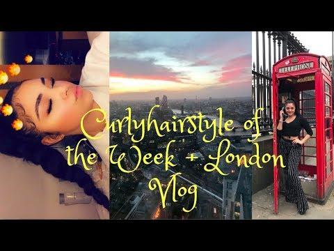 GRWM curly hairstyle of the week + Weekend in London vlog | Lolo Saunders