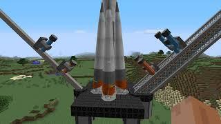 Minecraft Hbm nuclear tech mod - Soyuz Rocket launch