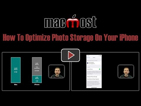 How To Optimize Photo Storage On Your iPhone (MacMost #1815)